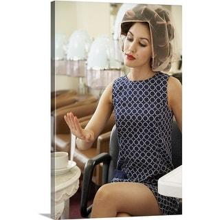 Premium Thick-Wrap Canvas entitled Woman Getting Manicure