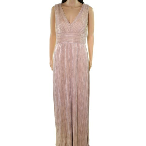e29958b706c SALE. Jessica Howard Champagne Gold Womens Size 12 Metallic Pleated Gown