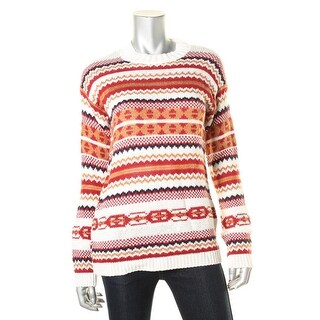 Cotton Emporium Womens Pattern Long Sleeve Pullover Sweater