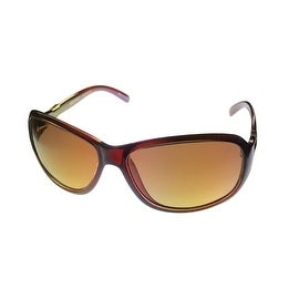 Ellen Tracy Womens Sunglass 526 2 Crystal Burgundy Rectangle, Gradient Lens - Medium
