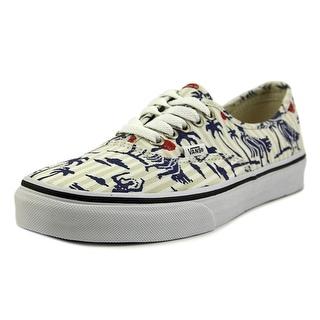 Vans Authentic Men Round Toe Canvas White Sneakers