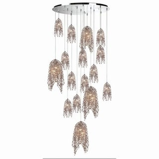 "Eurofase Lighting 31619 Danza 20 Light 37-1/2"" Wide Multi Light Pendant with Crystal Accents"