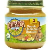 Earth's Best - Organic Peach Oatmeal Banana ( 12 - 4 OZ)