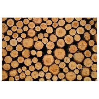 """""""Stacked firewood"""" Poster Print"""