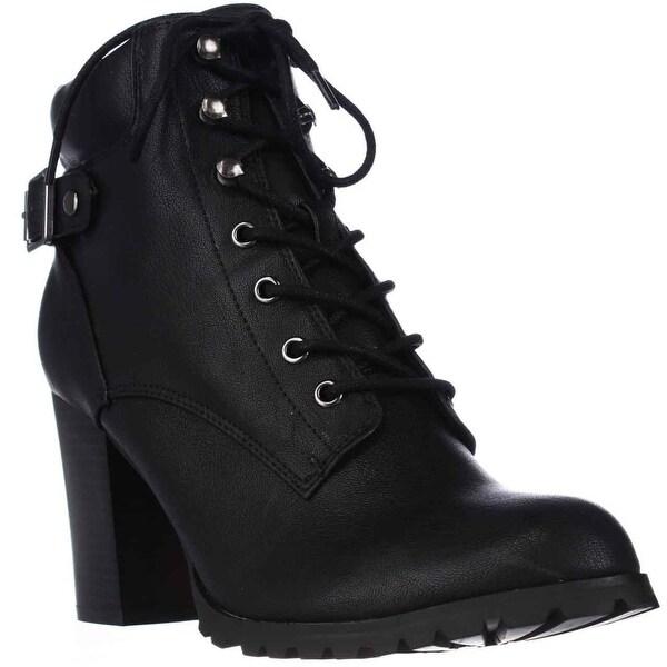 SC35 Caitlin Lace-Up Ankle Boots, Black
