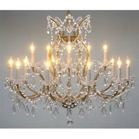 "Maria Theresa Crystal Lighting Chandelier - H28"" X W37"""