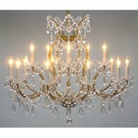 "Swarovski®Crystal Trimmed Maria Theresa Chandelier Lighting H28"" X W37"""