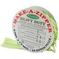 Make-A-Zipper Kit Heavy-Duty 3yd-Green - Green