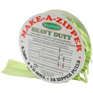 Make-A-Zipper Kit Heavy-Duty 3yd-Green - Green