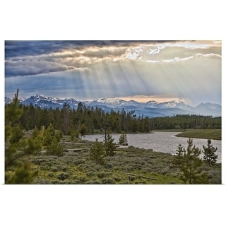 """""""Sun rays filtering through clouds."""" Poster Print"""