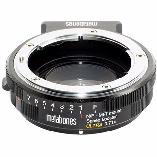 Metabones Speed Booster Ultra 0.71x Adapter for Nikon F-Mount Lens