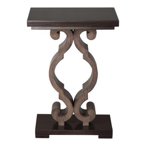 "Uttermost 25979 Parina 18"" Wide Hardwood Accent Table by Matthew - Warm Ebony"