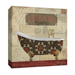 """PTM Images 9-153496  PTM Canvas Collection 12"""" x 12"""" - """"Postcard bath I"""" Giclee Tubs Art Print on Canvas"""