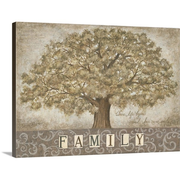 """Our Family Tree"" Canvas Wall Art"