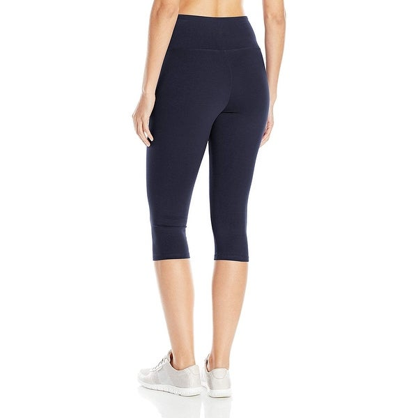 2-Pack Women Basic Solid Stretch Capri Leggings Skinny Slim Fit XS Small Medium