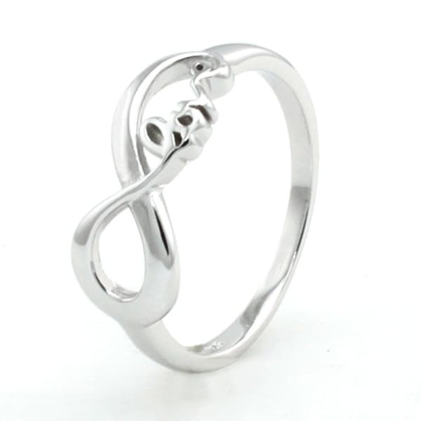 Sterling Silver Infinity Love Ring