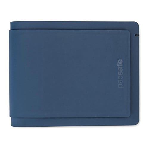 Pacsafe RFIDsafe TEC Bifold Plus -Navy RFID Blocking Slim Transit Bi-fold Wallet