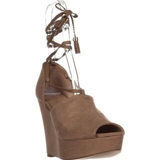 MICHAEL Michael Kors Hastings Lace-up Wedges, Dark Khaki Suede