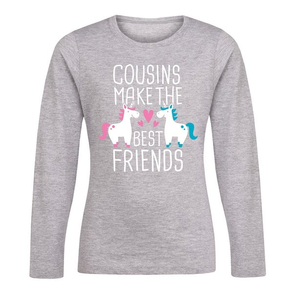 943c9a17e Shop Cousins Best Friends Unicorn - Youth Girl Long Sleeve Tee - Free  Shipping On Orders Over $45 - Overstock - 23005664