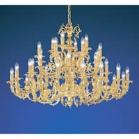"Classic Lighting 5736 33"" Cast Brass Chandelier from the Princeton Collection"
