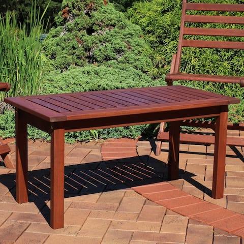 Sunnydaze Meranti Wood Coffee Table