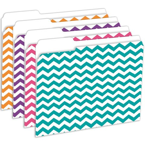 Tnt chevron file folders 12 pk 3344