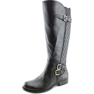 Naturalizer Jamon Wide Calf Women  Round Toe Leather Black Knee High Boot