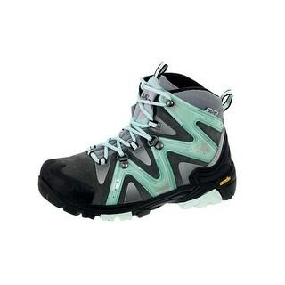 Boreal Climbing Boots Girls Aspen Lightweight Grey Turquoise 40131