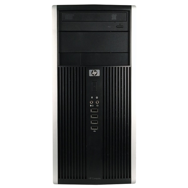 HP Pro 6305 Computer Tower AMD A4-5300B 3.4G 8GB DDR3 2TB Windows 10 Pro 1 Year Warranty (Refurbished) - Black/silver