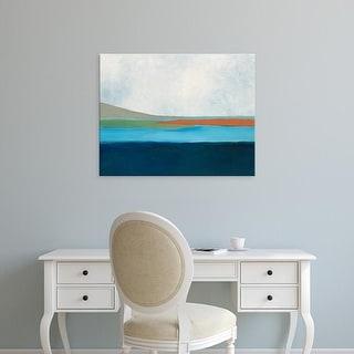 Easy Art Prints Jan Weiss's 'Layrered Earth 4' Premium Canvas Art