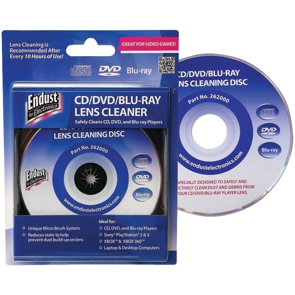 Endust 262000 Blu-Ray Disc(R)/Cd/Dvd/Game Console Lens Cleaner