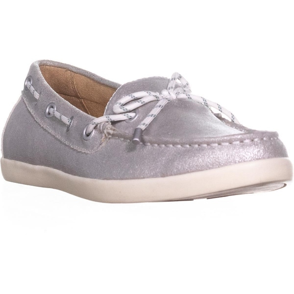 naturalizer Ginnie Flat Comfort Loafers, Silver - 9 us / 39 eu