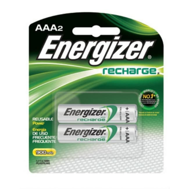 Energizer NH12BP-2 Recharge Universal AAA Battery, 2-Pack