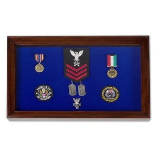 Military Award Shadow Box Display Case - Large - RED