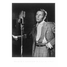 ''Frank Sinatra (with microphone)'' by William Gottlieb Jazz Art Print (24 x 18 in.)