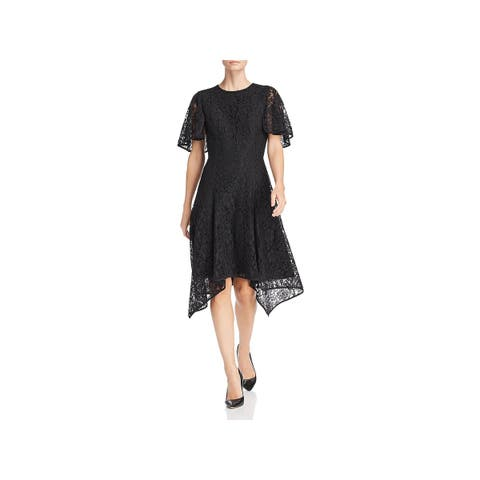 Donna Karan Womens Cocktail Dress Party Lace