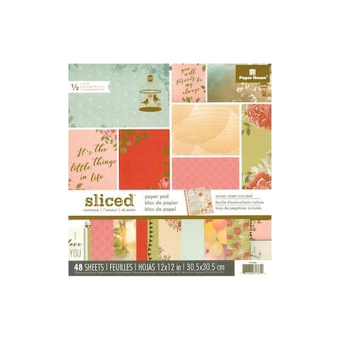 "Paper House Paper Pad 12"" Sliced Romance"