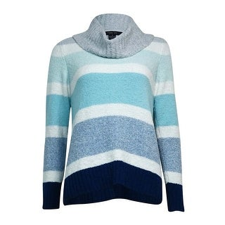 Style & Co. Women's Striped Cowl Neck Sweater