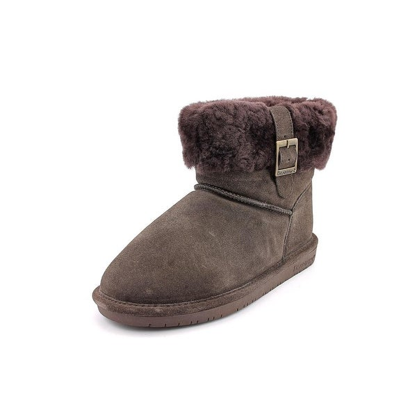 Bearpaw Abby Women Round Toe Suede Brown Winter Boot
