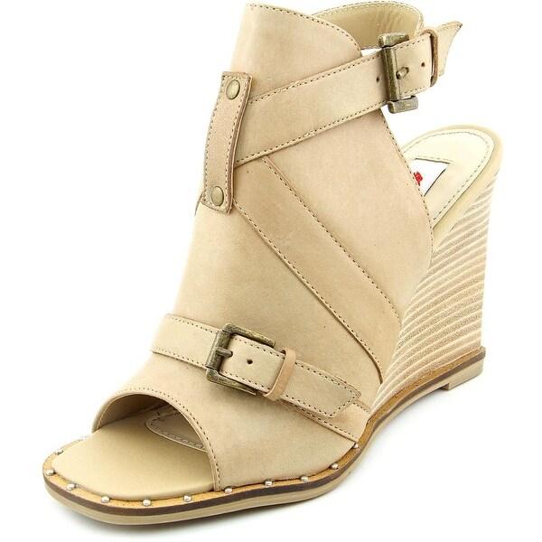 Two Lips Dahl Women Open Toe Leather Wedge Sandal