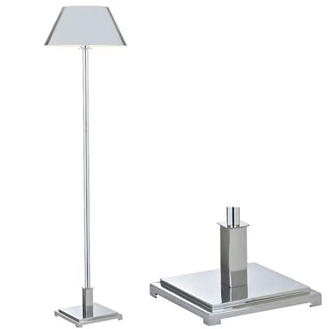 "Roxy 60"" Metal LED Floor Lamp, Chrome by JONATHAN Y - 60"" H x 15.75"" W x 15.75"" D"