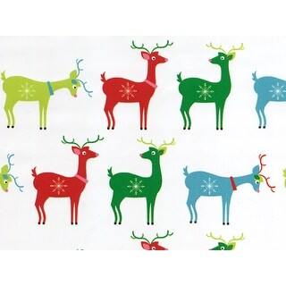 """Pack Of 1, 30"""" X 417' Deerly Holiday Christmas Stone Gift Wrap Counter Roll Made In Usa"""