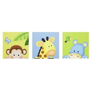 Fantasy Fields TD-0201A Sunny Safari Canvas Wall Art Set