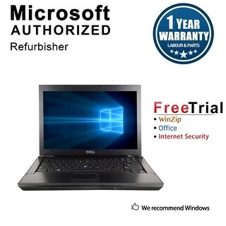 "Refurbished Dell Latitude E6400 14.1"" Laptop Intel Core 2 Duo P8400 2.26G 4G DDR2 160G DVD Win 7 Pro 64 1 Year Warranty - Black"