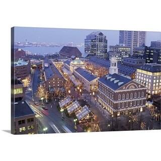 """""""Boston, Massachusetts"""" Canvas Wall Art"""