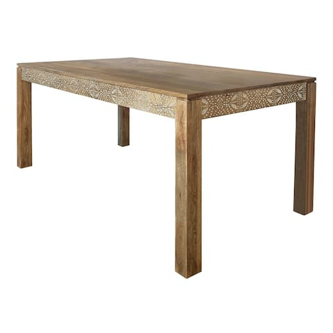 The Curated Nomad Stockbridge Natural Mango Rectangular Dining Table