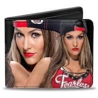 Nikki Bella 4 Vivid Poses + Autograph Black Bi Fold Wallet - One Size Fits most