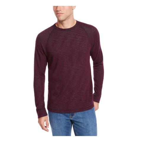 TOMMY BAHAMA Mens Purple Heather Long Sleeve Crew Neck Sweatshirt M