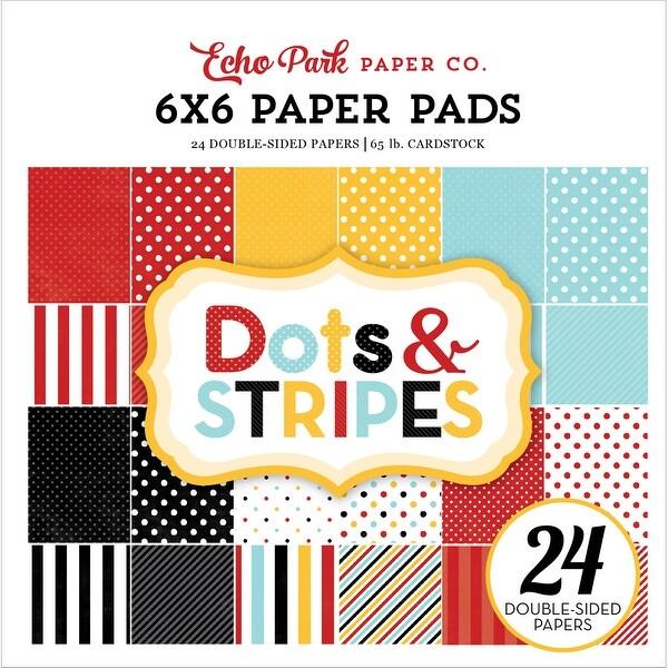 """Echo Park Double-Sided Paper Pad 6""""X6"""" 24/Pkg-Dots & Stripes Magical Adventure"""