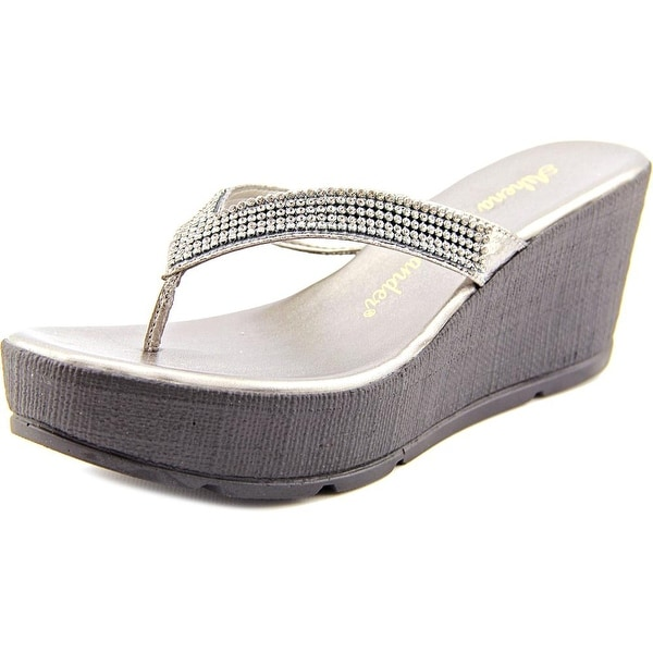 Athena Alexander Bambi Women  Open Toe Synthetic Gray Wedge Sandal